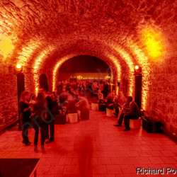 Surprising to find these large vaulted cellars, what a great place for a party!